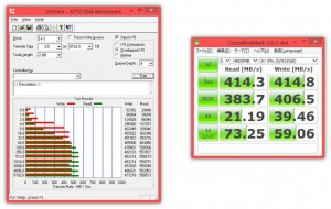 CrystalDiskMarkとATTO Diskbenchmark