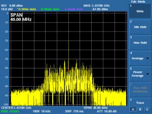 再生波形をスペアナで観測