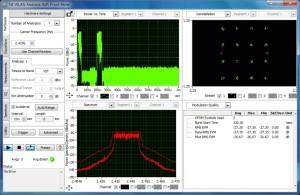 無線LANツールキット ソフトフロントパネルでEVM測定の図